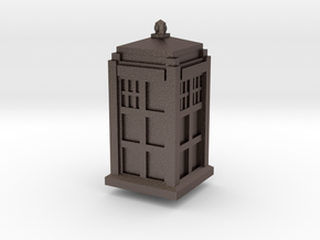 Tardis D4 in Polished Bronzed Silver Steel