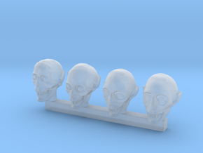 28mm Vampire / Nospheratu / Undead / Litch Heads in Smoothest Fine Detail Plastic