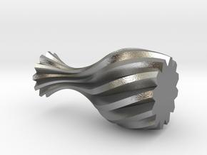 Spiral Vase in Natural Silver