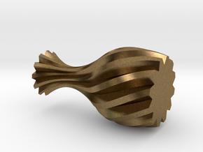 Spiral Vase in Natural Bronze