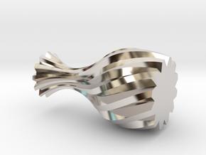 Spiral Vase in Platinum