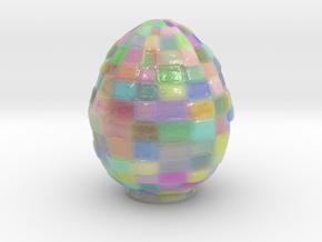 The Colored Blockchain Egg - 10cm in Glossy Full Color Sandstone