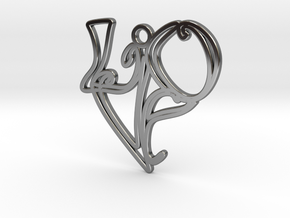 Love Earring (Harrington Font) in Fine Detail Polished Silver