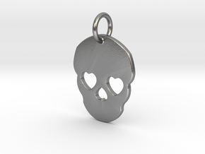 Cute Skull in Natural Silver