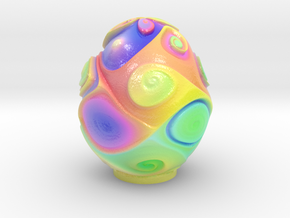 Color swirls Egg 5-10-15-24cm in Glossy Full Color Sandstone: Extra Small