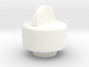 Heater Control Nob for DeLonghi Dragon 3  Oil Heat in White Processed Versatile Plastic