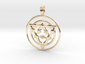 TARGET ENERGY in 14k Gold Plated Brass