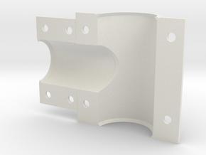 Left Head tube to Top tube shell EC 44 in White Natural Versatile Plastic