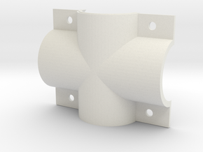 EC44 Head Tube X shell Right in White Natural Versatile Plastic