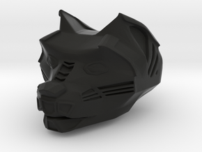Panther Head in Black Natural Versatile Plastic: Small