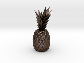 Customize pineapple in Polished Bronze Steel