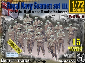 1/72 Royal Navy Seamen Set111 in Smooth Fine Detail Plastic
