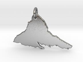 Matterhorn Necklace in Natural Silver