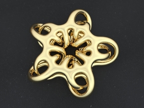 Star Abstract in Polished Brass