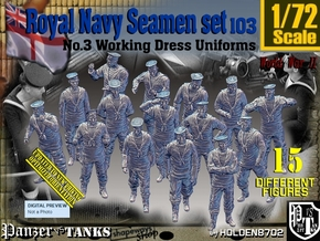 1/72 Royal Navy Seamen Set103 in Smooth Fine Detail Plastic
