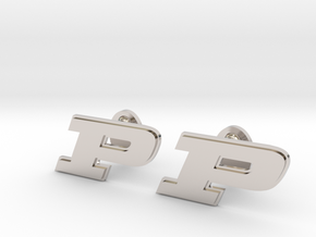 Purdue Cufflinks in Rhodium Plated Brass