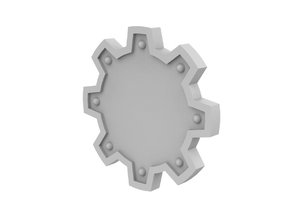 Cog Shield in Smoothest Fine Detail Plastic