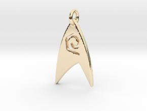 Star Trek - Starfleet Engineering (Pendant) in 14k Gold Plated Brass