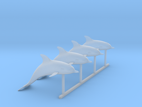 O Scale Dolphins in Smooth Fine Detail Plastic