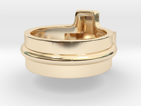 Ring of the gamer in 14k Gold Plated Brass: 5 / 49