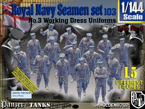 1/144 Royal Navy Seamen Set103 in Smooth Fine Detail Plastic