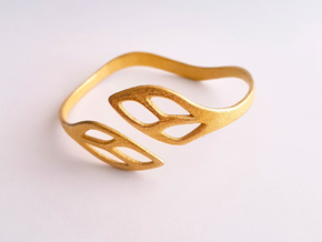 FLOS Bracelet. Smooth Elegance. in Polished Gold Steel: Extra Small