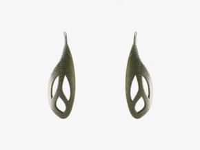 Flos earrings in Polished Nickel Steel