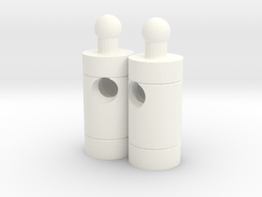 Huffer Pipes (final, but not perfect) in White Processed Versatile Plastic