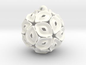 View of spherical games - part three. Pendant in White Processed Versatile Plastic