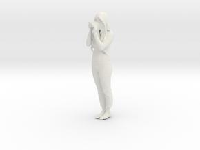 Printle C Femme 004 - 1/22.5 - wob in White Natural Versatile Plastic