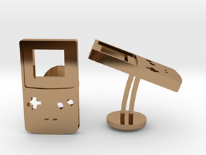 Gameboy Colour Wedding Cufflinks in Polished Brass