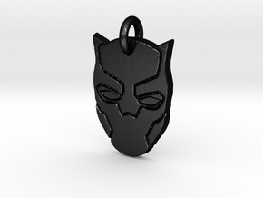 Marvel - Black Panther Pendant in Matte Black Steel