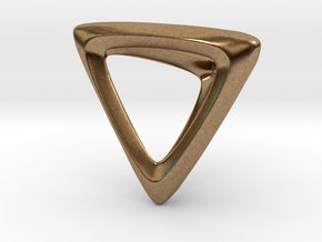 Tetrahedron Platonic Solid in Natural Brass