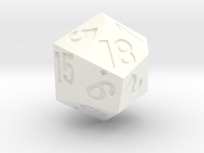 d18 with 3-fold rotational symmetry in White Processed Versatile Plastic