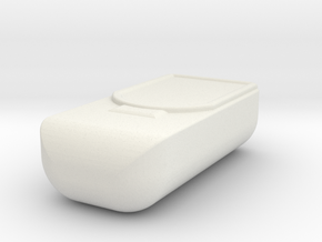 Pouch in White Natural Versatile Plastic