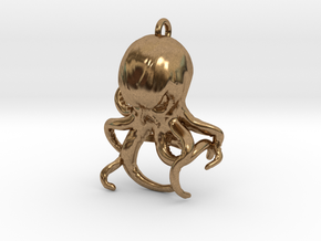 Cthulhu Bottle Opener in Natural Brass