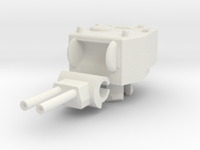 1/100 Twin Howitzer Turret in White Natural Versatile Plastic