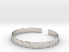 Heart Bracelet  in Rhodium Plated Brass