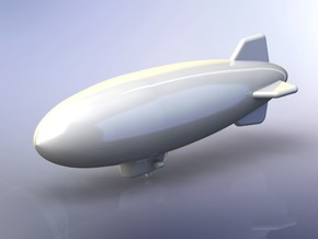 K-3 Class US Navy Blimp 1/1800 in Smooth Fine Detail Plastic