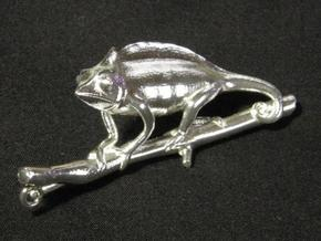 Chameleon Pendant Head in Natural Silver