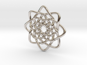Circle Knots in Rhodium Plated Brass