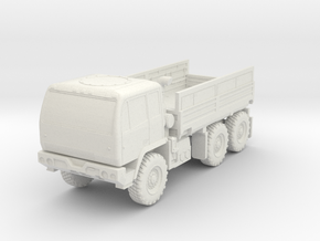 1:100 Miniature M1083 Oshkosh Standard Cargo truck in White Natural Versatile Plastic: 1:100
