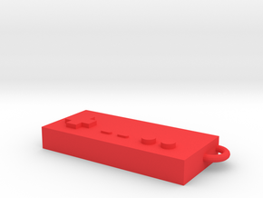 Classic Nintendo controller keychain in Red Processed Versatile Plastic