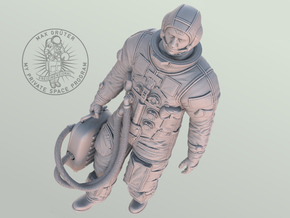 Apollo Astronaut Ready For GO / 1:6 in White Natural Versatile Plastic