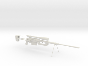 Intervention - Sniper Rifle in White Natural Versatile Plastic