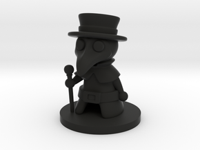 Plague Doctor in Black Premium Versatile Plastic