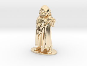 Dungeon Master Miniature in 14K Yellow Gold: 1:55