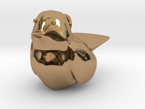 Little Bird Charm in Polished Brass