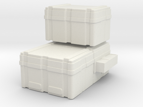 SULACO large cargoboxes 1:72 scale in White Natural Versatile Plastic