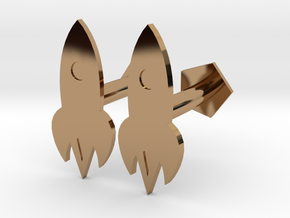 TiNRS Cuff Links in Polished Brass